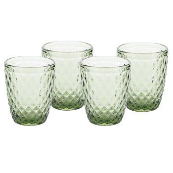 Retro poháre na vodu, 4ks, 240ml, zelená, VERITAS TYP 2