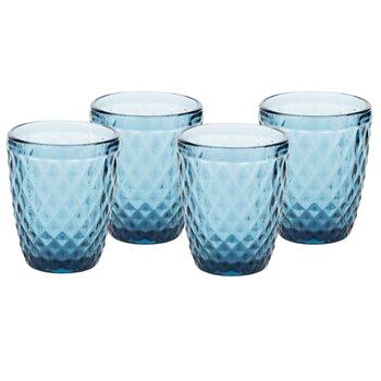 Retro poháre na vodu, 4ks, 240ml, modrá, VERITAS TYP 2