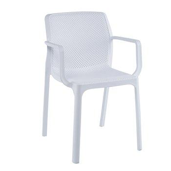 Stohovateľná stolička, biela/plast, FRENIA