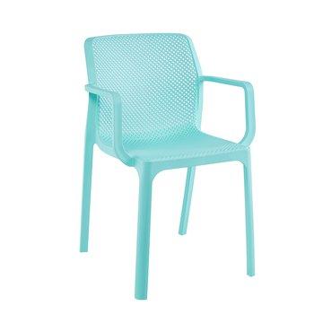 Stohovateľná stolička, mentolová/plast, FRENIA