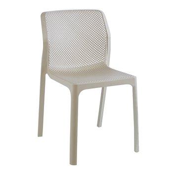 Stohovateľná stolička, sivohnedá taupe/plast, LARKA