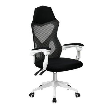 Kancelárske/herné kreslo, čierna/biela, YOKO