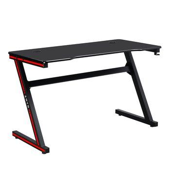 Herný stôl/počítačový stôl, čierna/červená, MACKENZIE 120cm