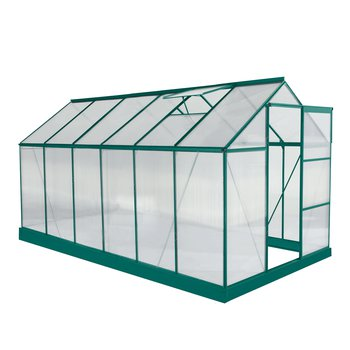 Záhradný skleník, polykarbonát, 190x371x205 cm, BURIO