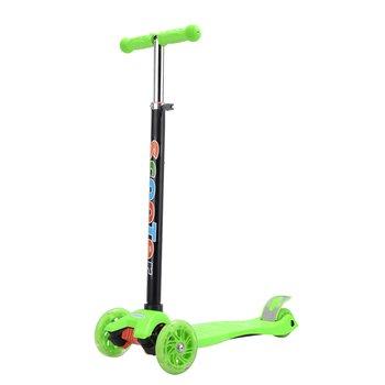Detská kolobežka, LED kolieska, zelená, VAOLA TYP 1