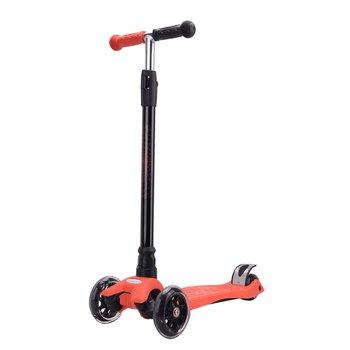 Detská kolobežka, LED kolieska, červená/čierna, VAOLA TYP 2