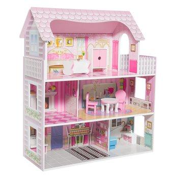 Domček pre bábiky s príslušenstvom, ružová/biela, AMORI