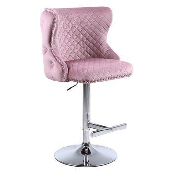 Barová stolička, ružová/chróm, BOLERO