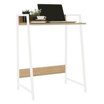 PC stôl, dub sonoma/biela, LAVSON