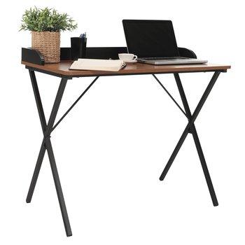 Počítačový stôl, orech/čierna, LENARD