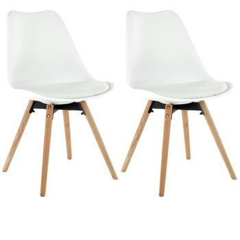 2 kusy, stolička, biela/buk, SEMER NEW