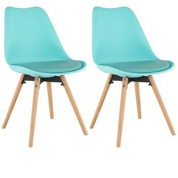 2 kusy, stolička, mentolová/buk, SEMER NEW