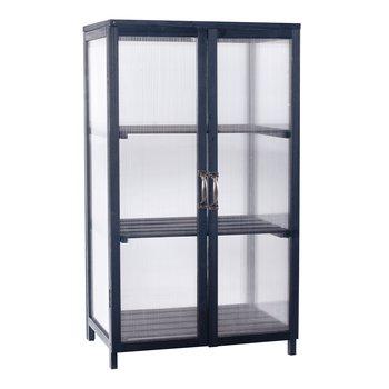 Balkónový skleník, čierna, MANLO TYP 1