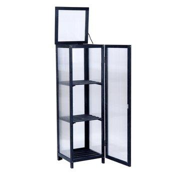 Balkónový skleník, čierna, MANLO TYP 2