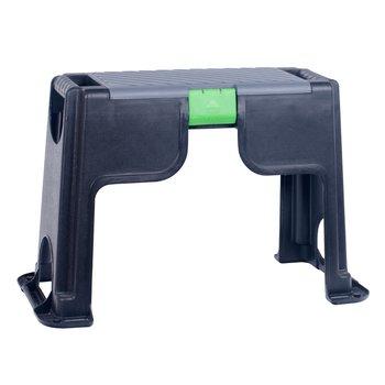 Montážna stolička so skrinkou na náradie, čierna, TOSNY
