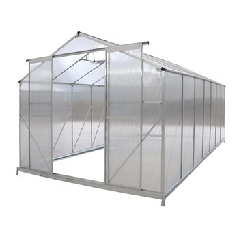Záhradný skleník, polykarbonát, 252x432x195 cm, KACEN TYP 6