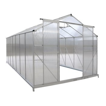 Záhradný skleník, polykarbonát, 252x496x195 cm, KACEN TYP 7