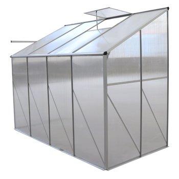 Záhradný skleník k stene, polykarbonát, 122x252x199 cm, MABON TYP 2