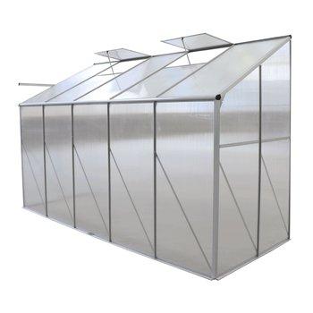 Záhradný skleník k stene, polykarbonát, 122x313x199 cm, MABON TYP 3