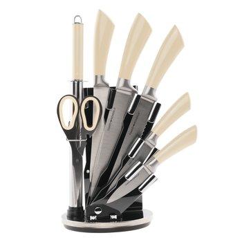 Sada nožov v stojane, 8 ks, vanilka, JASER