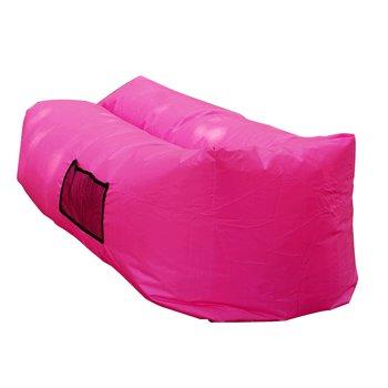 Nafukovací sedací vak/lazy bag, ružová, LEBAG