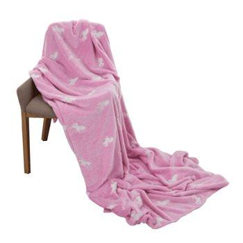 Svietiaca deka, ružová/vzor, 150x200cm, GLOVIS TYP 2