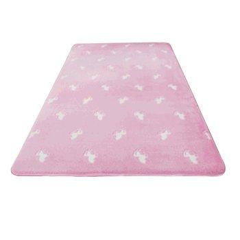 Svietiaci koberec, ružová/vzor, 60x100cm, GLOVIS TYP 2