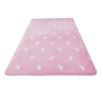 Svietiaci koberec, ružová/vzor, 160x230cm, GLOVIS TYP 2