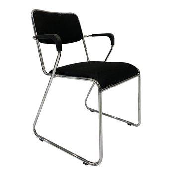 Zasadacia stolička, čierna sieťovina, DERYA NEW