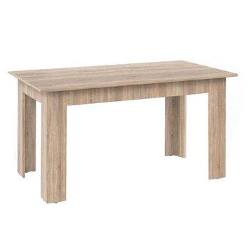 Jedálenský stôl, dub sonoma, 140x80, GENERAL NEW