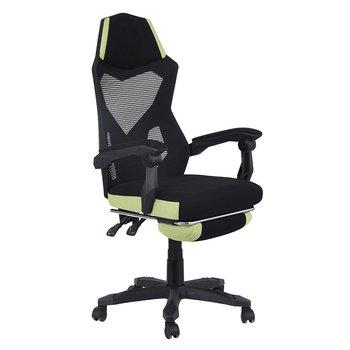 Kancelárske/herné kreslo, čierna/zelená, JORIK