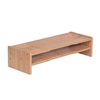 Podstavec pod monitor, bambus, prírodná, ELARO TYP 4