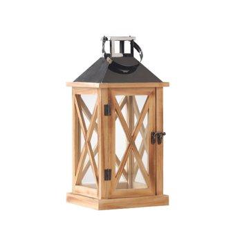 Lampáš, prírodná/čierna, drevo/kov, TAMOL TYP 1