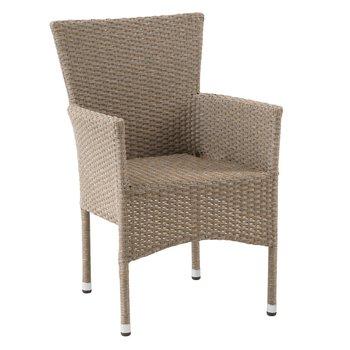 Záhradná stohovateľná stolička, prírodná, AIDT