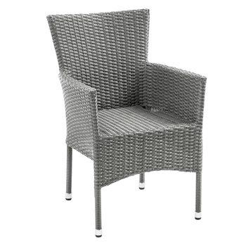 Záhradná stohovateľná stolička, sivá, AIDT