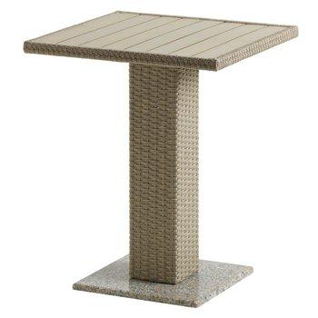 Záhradný jedálenský stôl, prírodná, ratan/žula/Artwood, THY