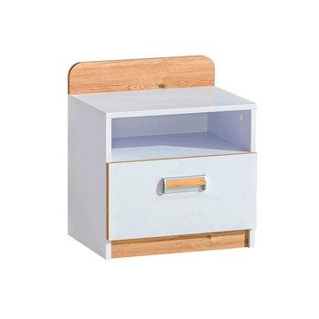 Nočný stolík, biela/dub nash, EGO L12