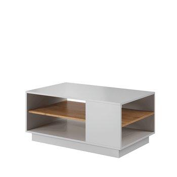 Konferenčný stolík, biela/dub craft zlatý, TRIO