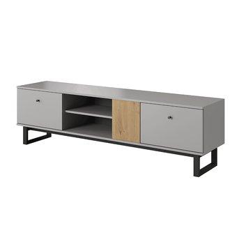 RTV stolík, svetlosivá/dub artisan, AVIRAM