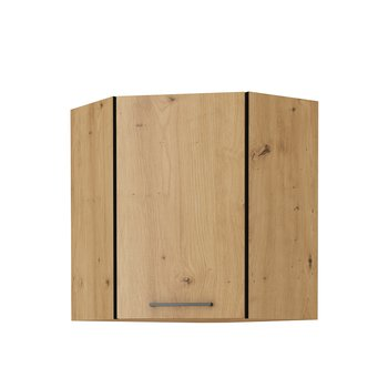 Horná skrinka, čierny mat/dub artisan, MONRO 60/60 GN-72 1F