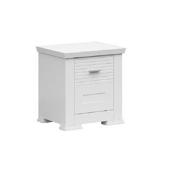 Nočný stolík, biela, ARYAN