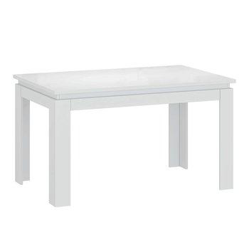 Rozkladací stôl, biely lesk, LINDY