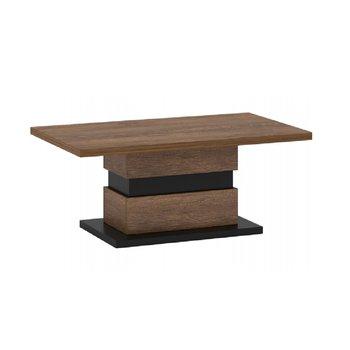 Konferenčný stolík, dub bolzano/čierna, DELIS T