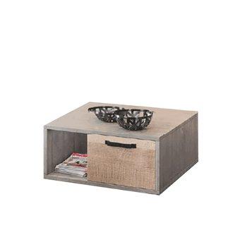 Konferenčný stolík, dub pieskový/sivá, BARIA 1S