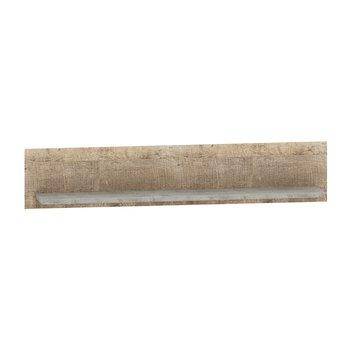 Polica, dub pieskový/sivá, BARIA 140