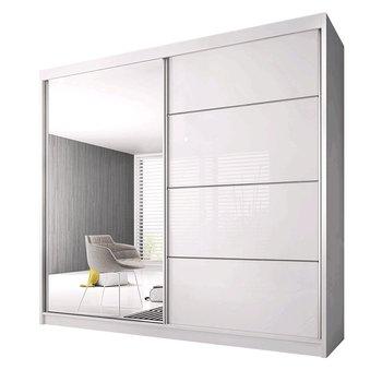 Skriňa s posuvnými dverami, biela, 203x61x218, MULTI 35
