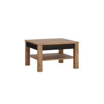 Konferenčný stolík, dub lefkas tmavý/čierny mat, LUCITA HAVT01