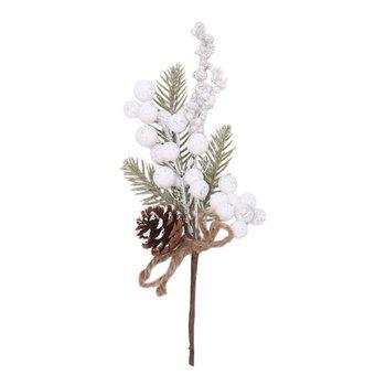 Vianočné vetvičky, set 6 ks, 28 cm, biela, GREN SET TYP 2