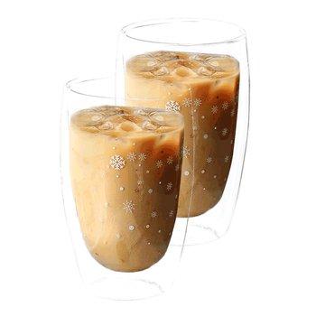 Termo poháre, set 2 ks, s vločkami, 450 ml, HOTCOLD TYP 33