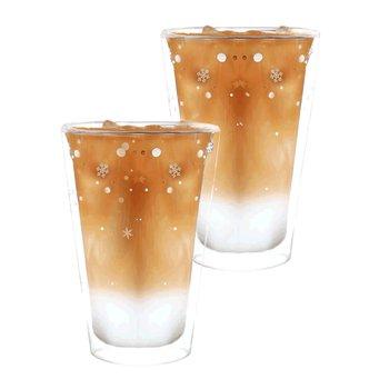 Termo poháre, set 2 ks, s vločkami, 400 ml, HOTCOLD TYP 34